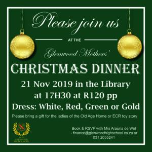 Mothers' Christmas Dinner 2019 @ Glenwood High School